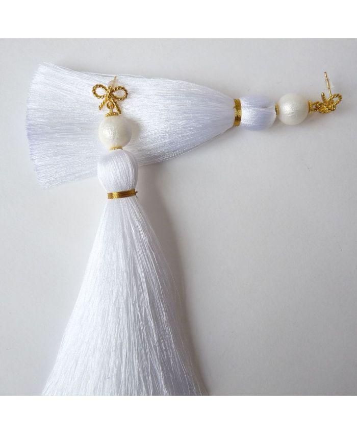 Серьги-кисти «Первый танец»  длина 8 - 14 см