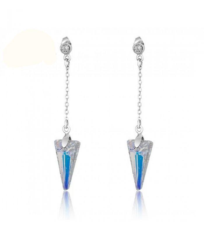 Серьги c кристаллами сваровски стрелы Aurore Boreale