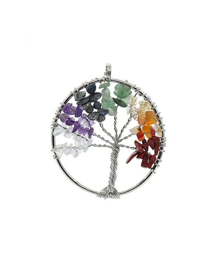 "Кулон ""Дерево"" самоцветы"