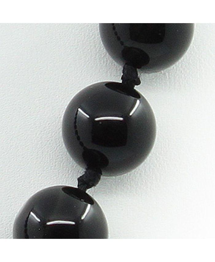 Бусы черный обсидиан, круглые 12мм, длина 45см