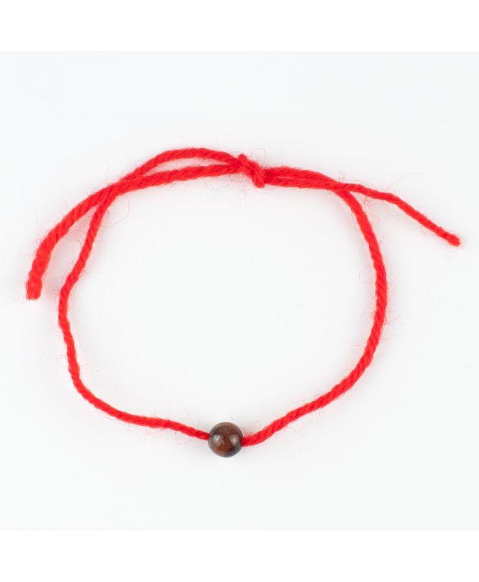 Браслет «Красная нить» из  бычьего глаза