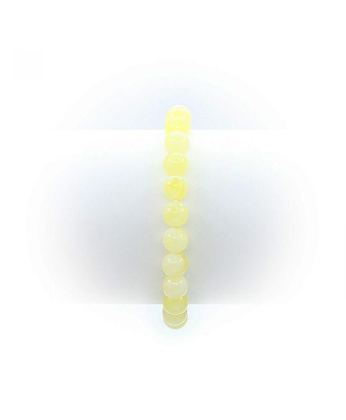 """Браслет из янтаря """"Классика"""" молочный (имитация) 8мм"""