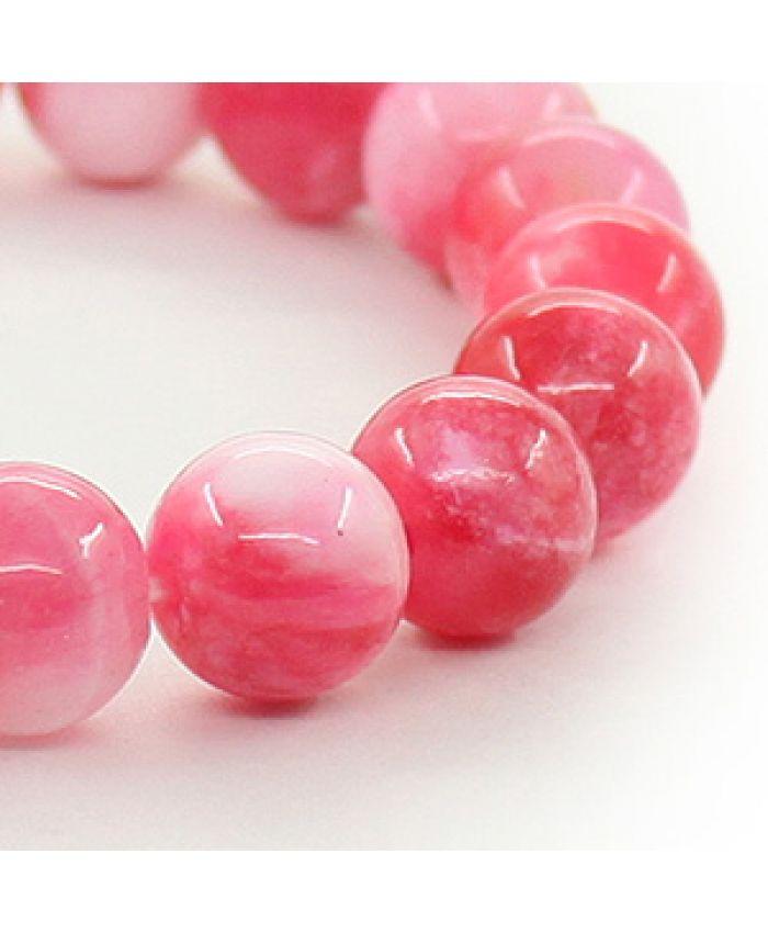 Браслет из турмалина 10мм розовый (имитация)