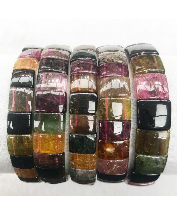 Браслет из натуральных камней турмалина  прозрачный