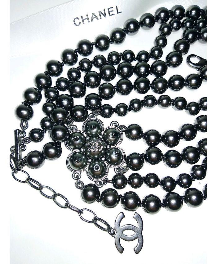 Колье Chanel трёхрядное винтаж длина 54-60 см
