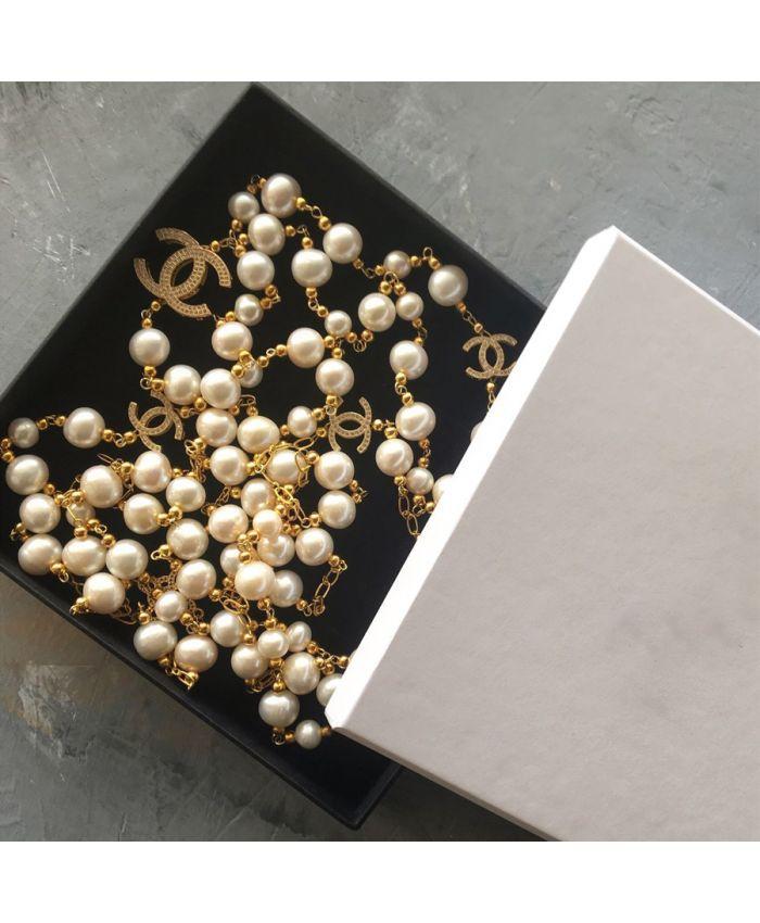 "Бусы ""Chanel "" жемчуг натуральный"
