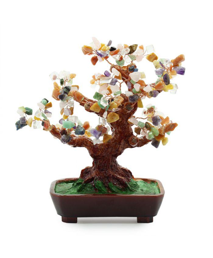 Дерево счастья самоцветы, высота 25см