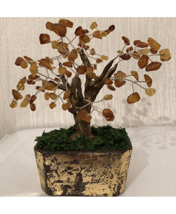 Дерево счастья из янтаря, высота 14см