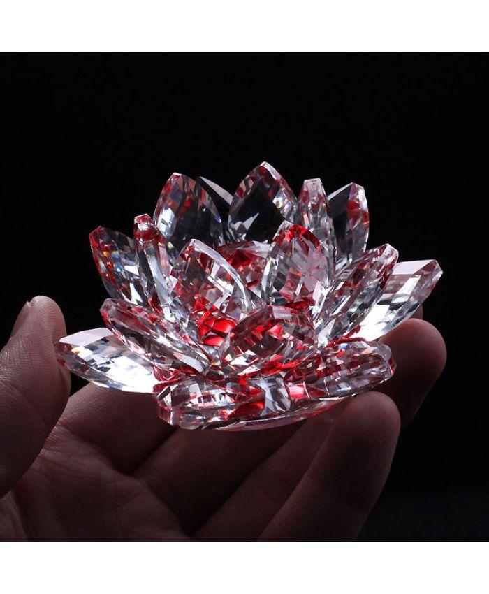Хрустальный цветок Лотоса Фэн-Шуй 70 мм