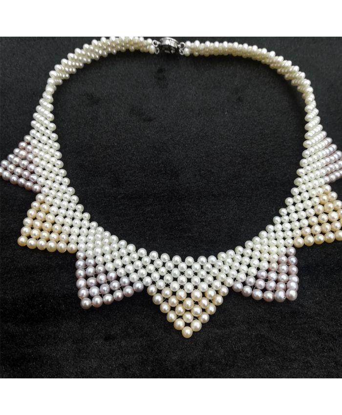 Жемчужное ожерелье, круглый 2-3мм, длина 45см
