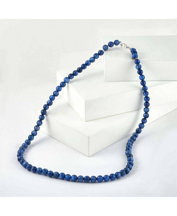 Бусы кианит синий 6 мм, длина 50 см