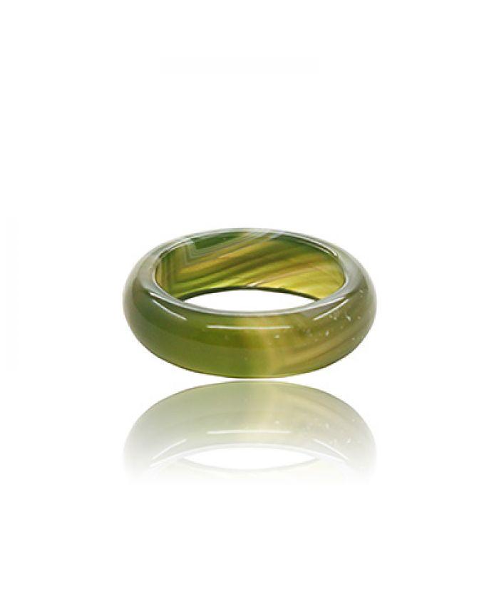 Кольцо из темно-зеленого агата, маленькое