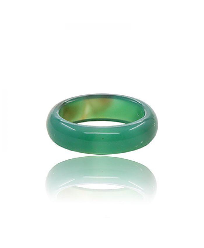 Кольцо из зеленого агата, маленькое