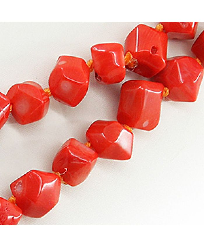 Длинные коралловые бусы оранжевый натуральный, галтовка, длинные 116см