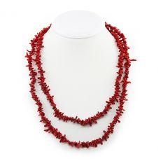Коралловые бусы красный натуральный, иголочки маленькие, длина 112см