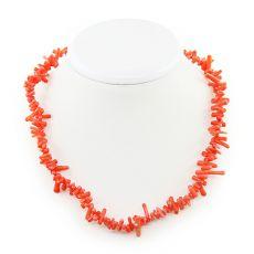 Коралловые бусы оранжевый натуральный, иголочки, длина 47см