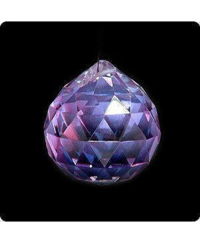Подвеска, хрусталь, фиолетовый, 40 мм