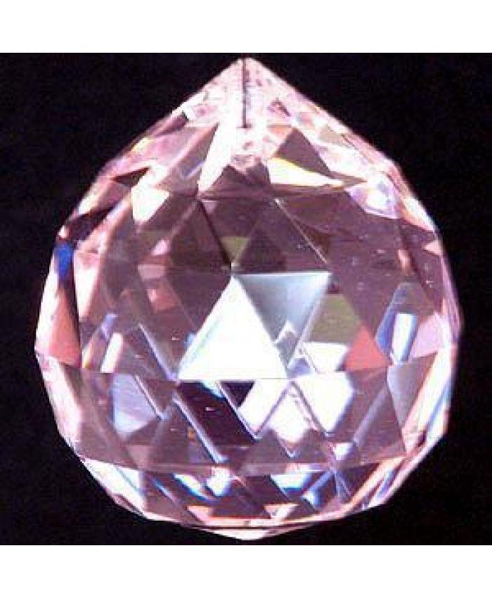 Шар хрустальный для Фен-шуй, розовые, 40 мм