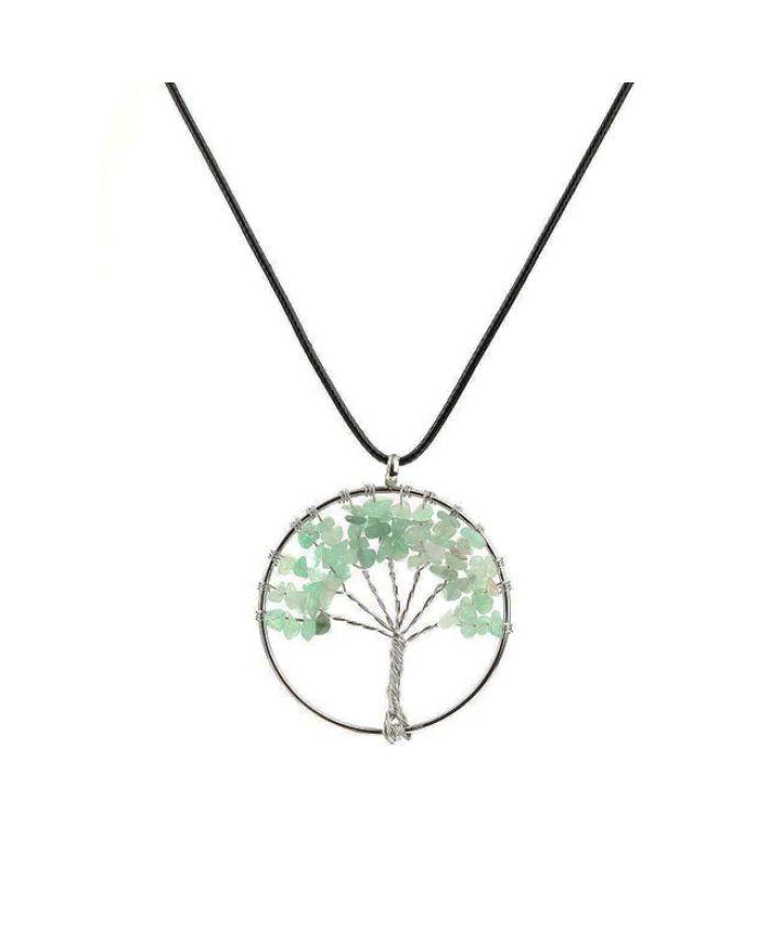 Кулон из нефрита имитация Дерево