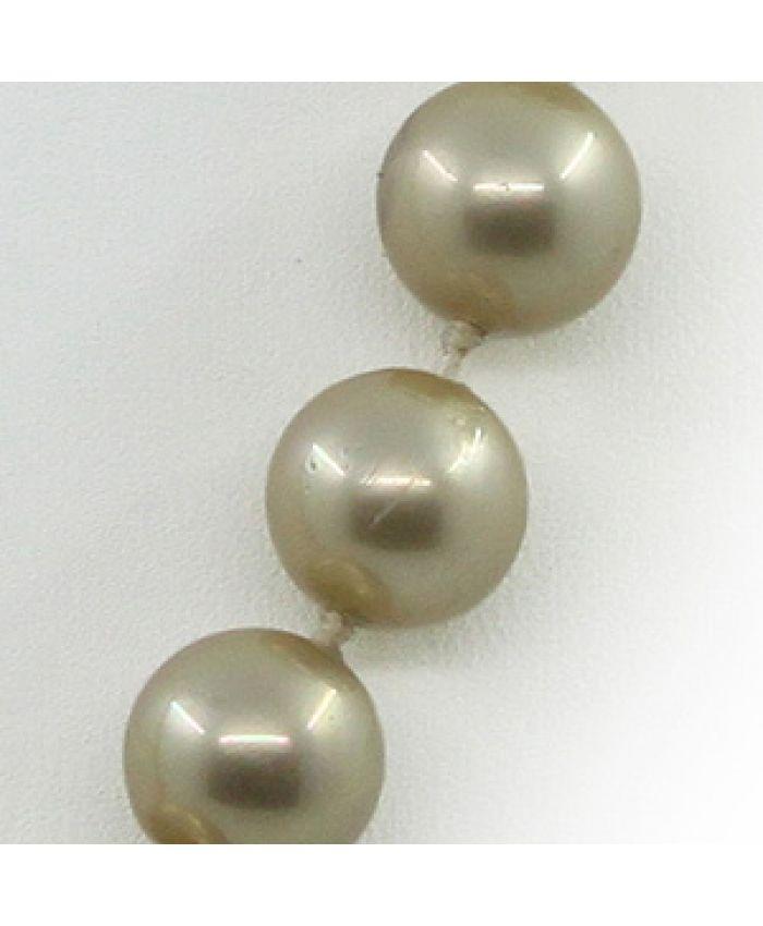 Бусы майорка золотая, круглые 10мм, короткие 45см