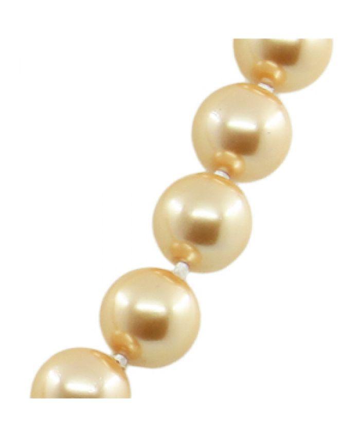 Бусы майорка золотая, круглые 12мм, короткие 45см