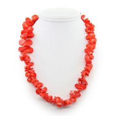 Коралловые бусы оранжевый, галька плоская в виде капли, длина 50см