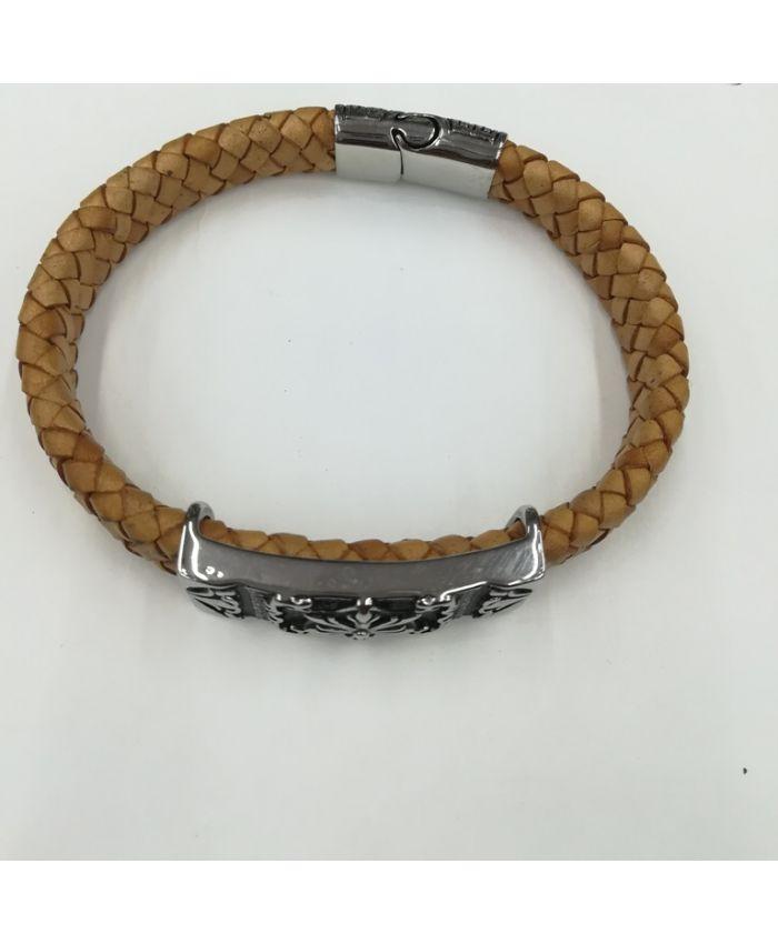 Мужские браслеты из кожи коричневый