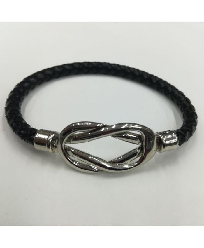 Мужские браслеты из кожи черный