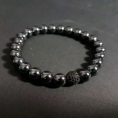 Мужской браслет из Гематита