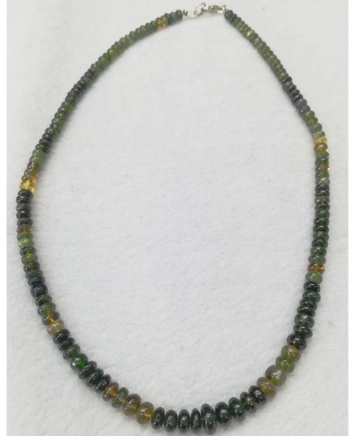 Зеленый опал бусы благородный Австралия 44-46 см