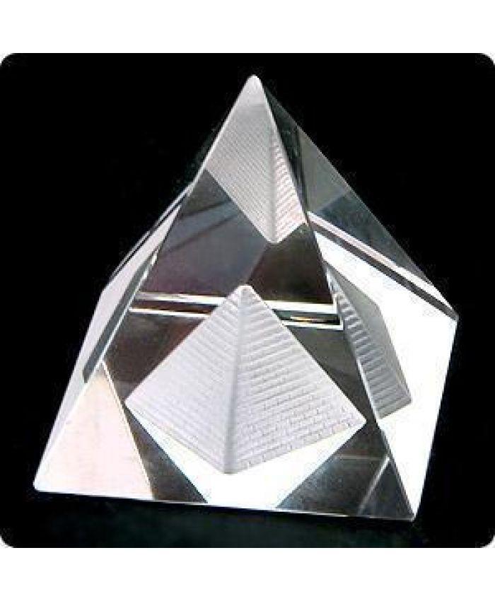 """Стеклянная Фигурка """"Пирамида энергетическая"""", 65 мм"""