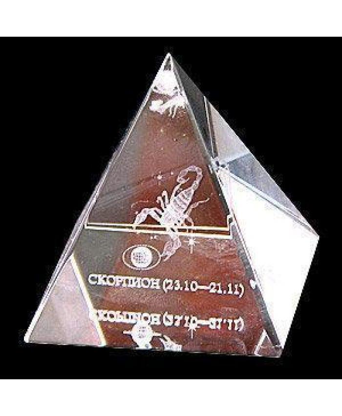 """Стеклянная Пирамида """"Зодиак"""" скорпион, 50 мм"""