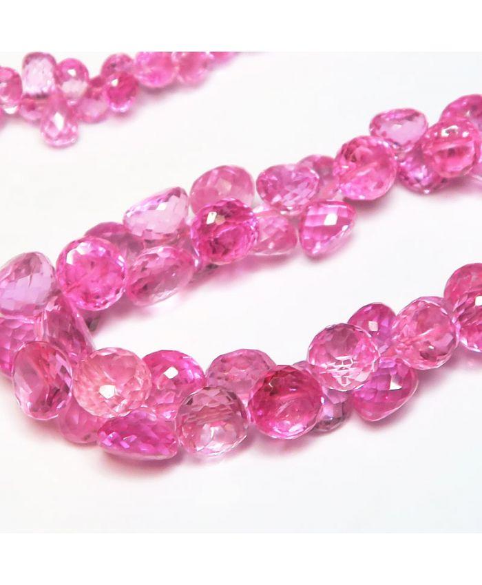 Бусы из розовой шпинели длина  50см