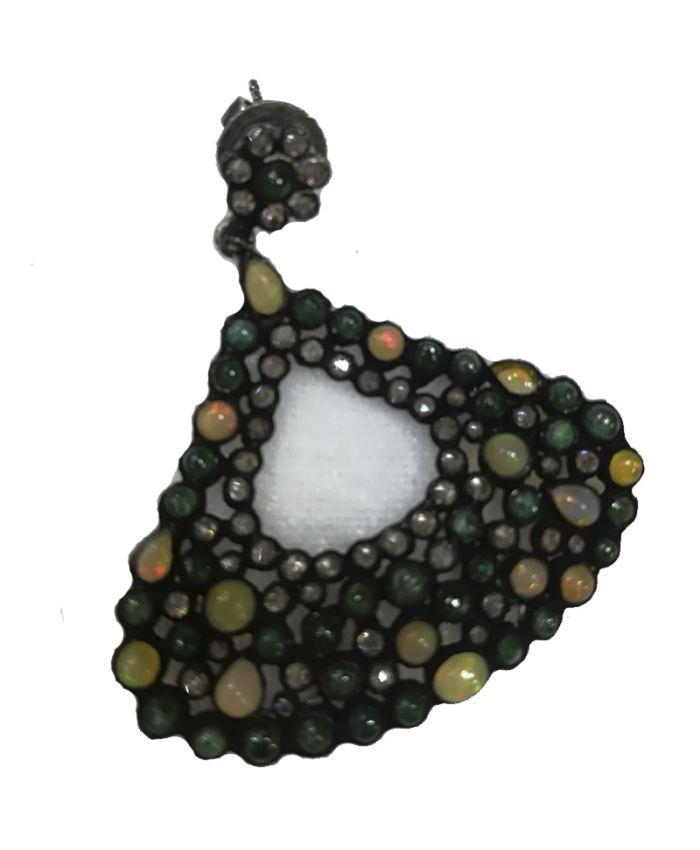 Серьги серебро с камнями