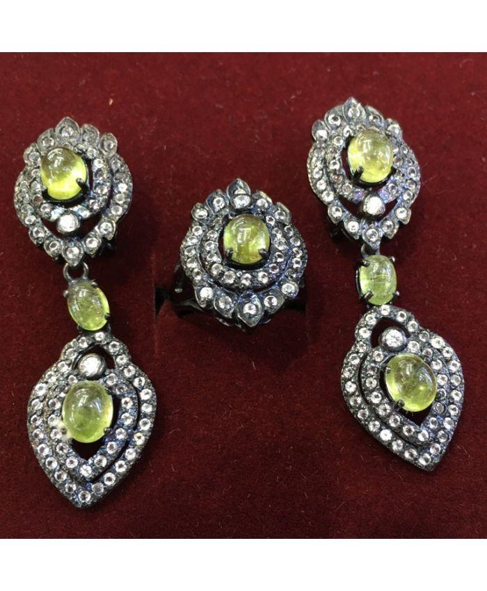 Ювелирные украшения из кордиерита в серебре