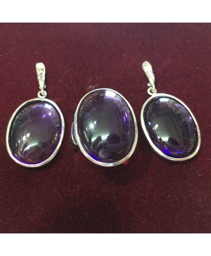 Ювелирные украшения с аметистом в серебре