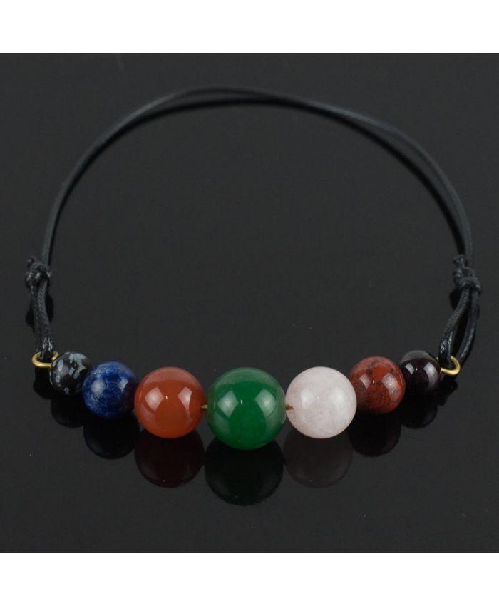 Браслет-оберег «7 камней-на любовь» самоцветы