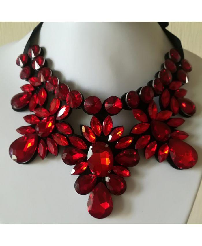 Ожерелье Воротник красный
