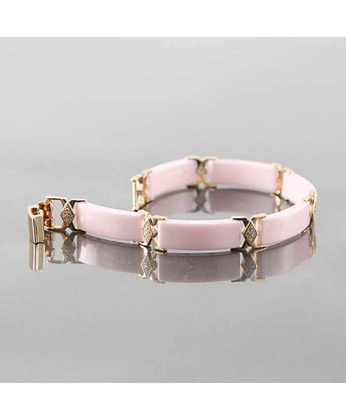 """Браслет из керамики """"Лила"""" розовый"""
