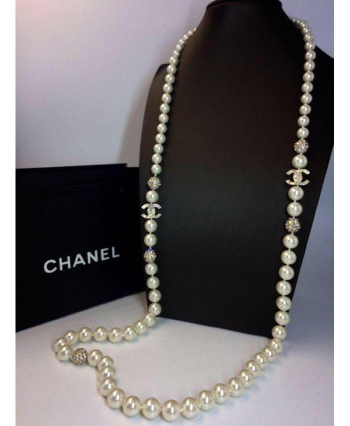 Бусы Chanel люкс 120 см