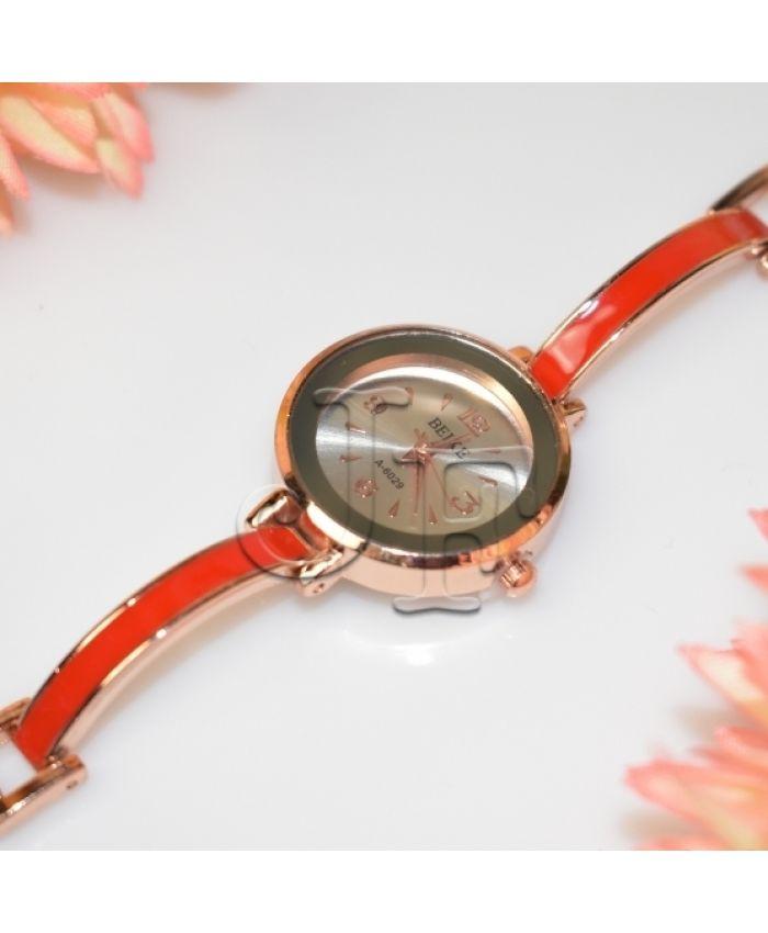 Красные часы кварцевые длина 19см
