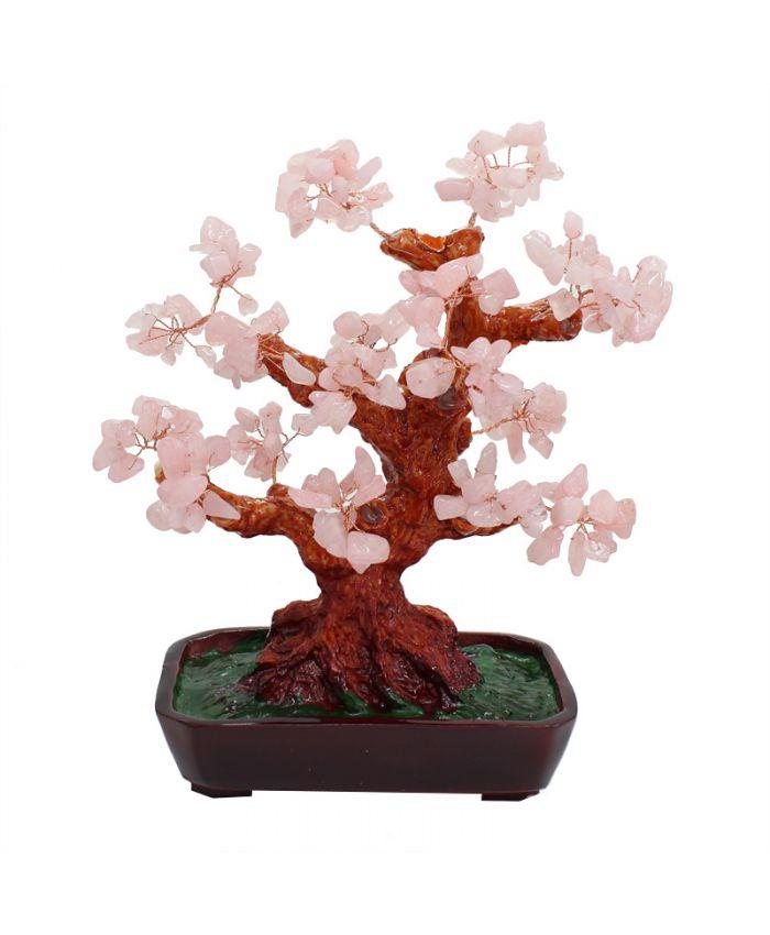 Дерево счастья розовый кварц, высота 25см