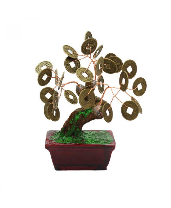 Дерево счастья монеты, высота 11см