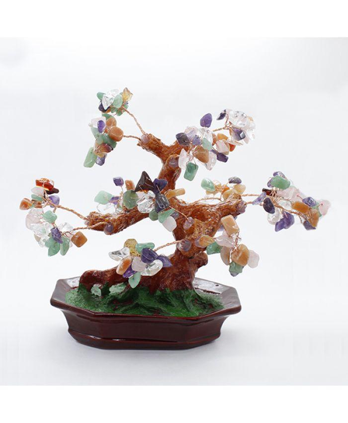 Дерево счастья самоцветы, высота 18см
