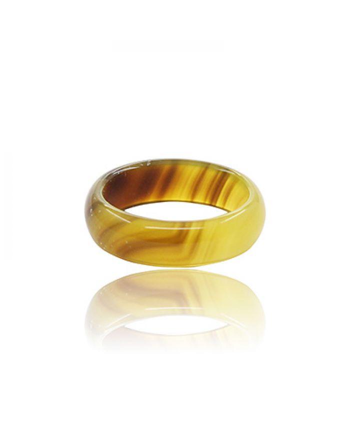 Кольцо из бежевого агата, маленькое