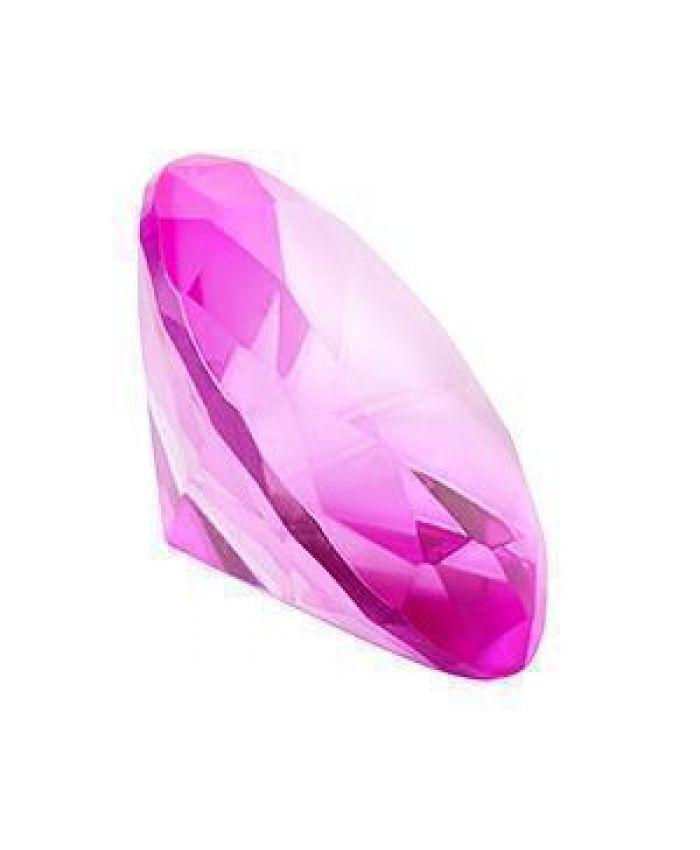 Диамант, хрусталь, розовый, 50 мм