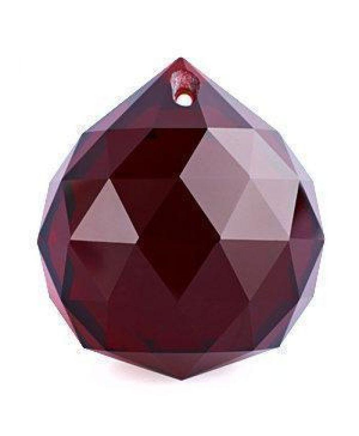 Шар хрустальный для Фен-шуй, красные, 40 мм