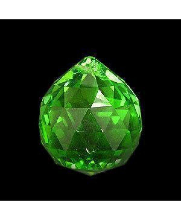 Шар хрустальный для Фен-шуй, зелёные, 40 мм