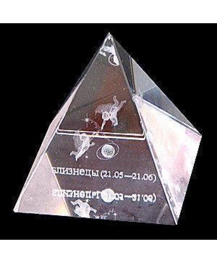 """Хрустальная Пирамида """"Зодиак"""" близнец, 50 мм"""